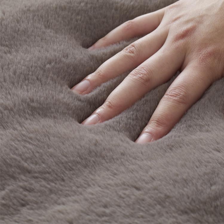 こたつ敷布団 ラビットファー+3℃ 長方形 190cm×240cm GY