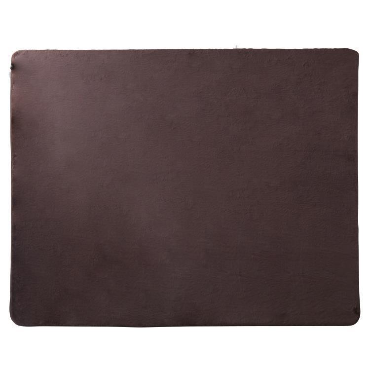 ラビットファー+3℃ ラグ  130×185  BR
