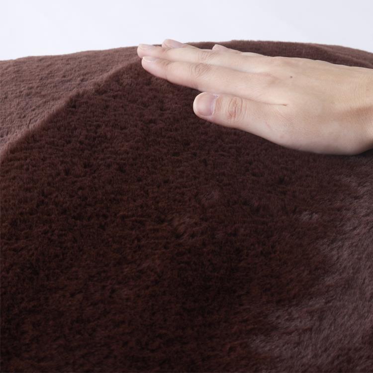 ラビットファー+3℃ 背当クッション  45×45  BR