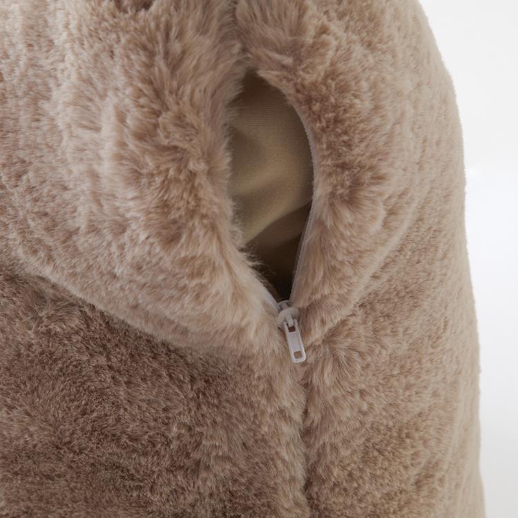 ラビットファー+3℃ 背当クッション  45×45  BE