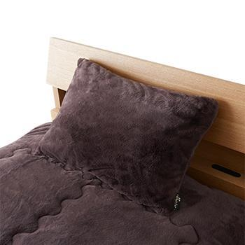 ラビットファー+3.8℃枕カバー BR 43×63 TH-214