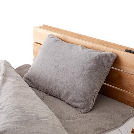ラビットファー +3.8℃ 枕カバー  GY 43×63 TH-214