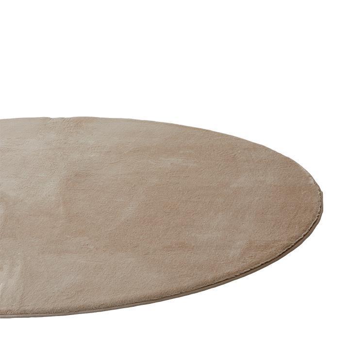 ラビットファー +3.8℃ 円形ラグ BE 185丸 TH-218