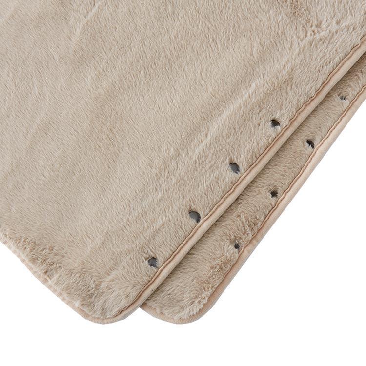 TH-234  ラビットファー+3.8℃着る毛布 BE 80×135