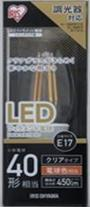 LDC4LG-E17/DFC LED電球 40W相当 調光器対応 電球色