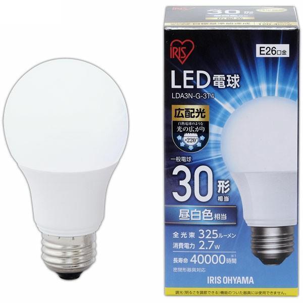 LED電球 広配光   25形相当 LDA3N-G- 昼白色 3T4 E26