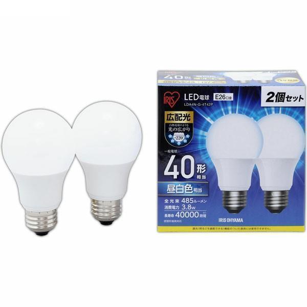 LED電球 広配光   40形相当 2個入 LDA4N-G- 昼白色 4T42P E26