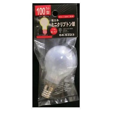 04-6323  クリプトン球 PS45 100W 口金:E17 WH
