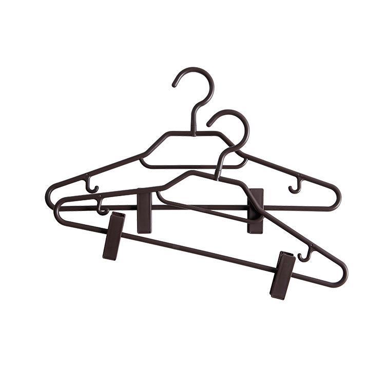 BestLine スタイルシャツハンガー クリップ付き 2本組 210 BR