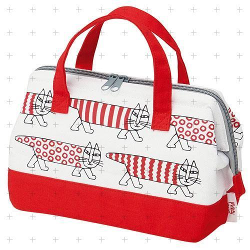 KGAF1  リサラーソン 帆布地保冷がま口型バッグ