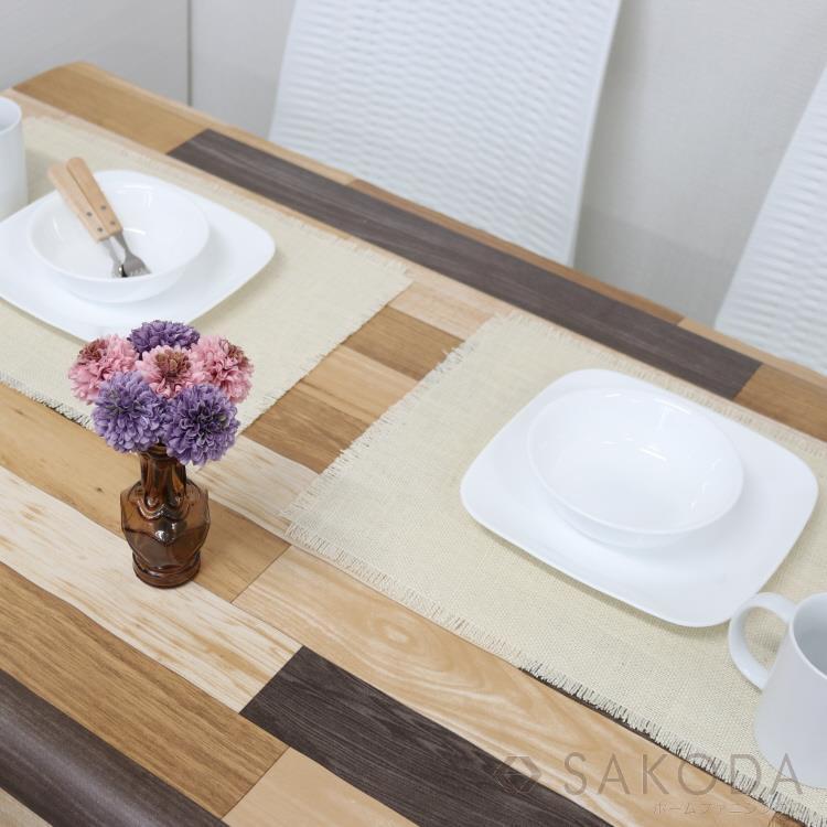 貼るテーブルデコ 寄せ木 90cm×150cm ブラウン