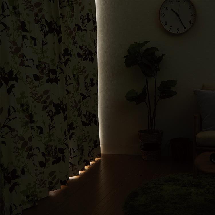 AT HOME リーフトカーテン2枚組 100X200cm GN