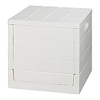 グリットコンテナー キューブ 収納BOX WH