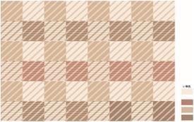MZ-211605-Ⅷ  ブロックロード い草ラグ BE 180×180