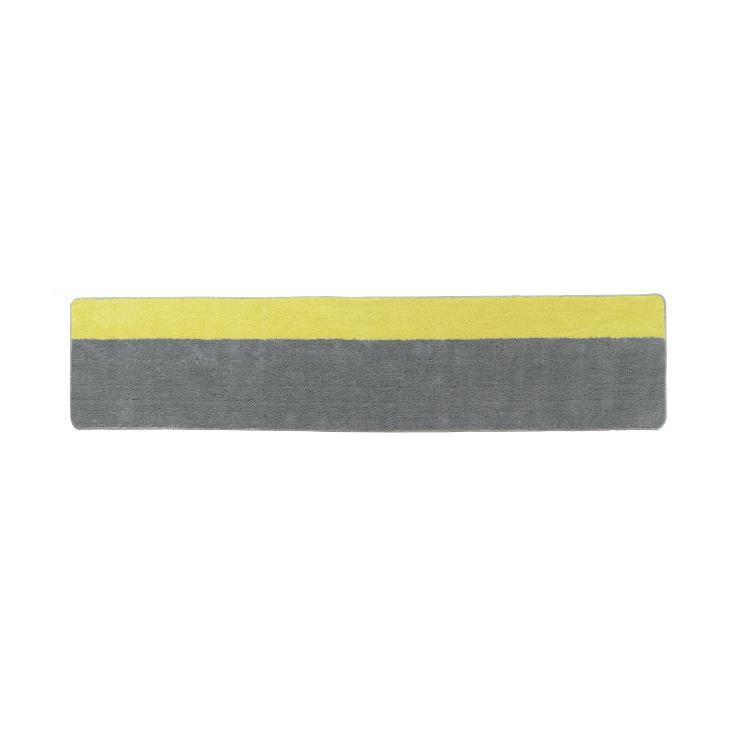 カラーズキッチンマット  GY/YE 45×180