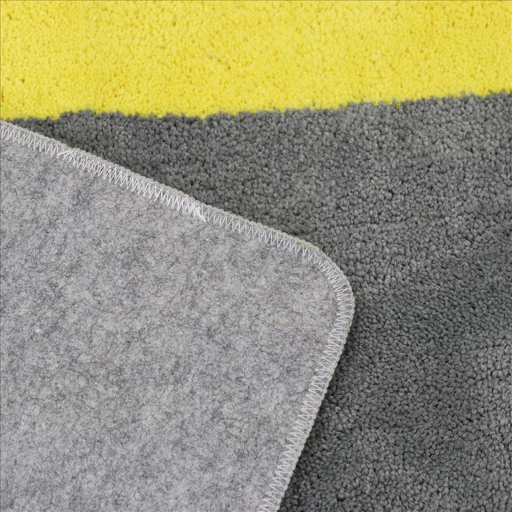 カラーズキッチンマット  GY/YE 45×240