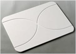 W-A  超吸水バスマット ウェーブ 57.5×42.5×1cm IV