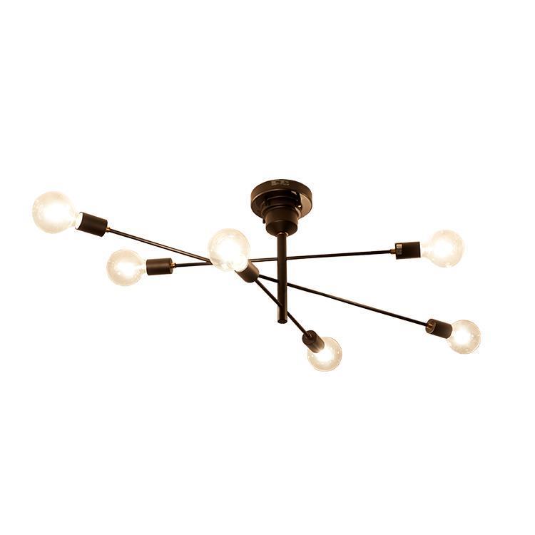 アストル 6灯シーリングライト クリアボール球