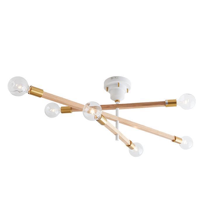 LT-3526 アストル バウム 6灯シーリングライト WH クリア球