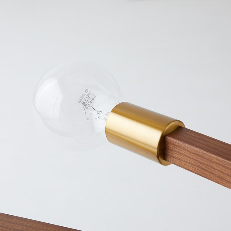 LT-3526 アストル バウム 6灯シーリングライト BK クリア球