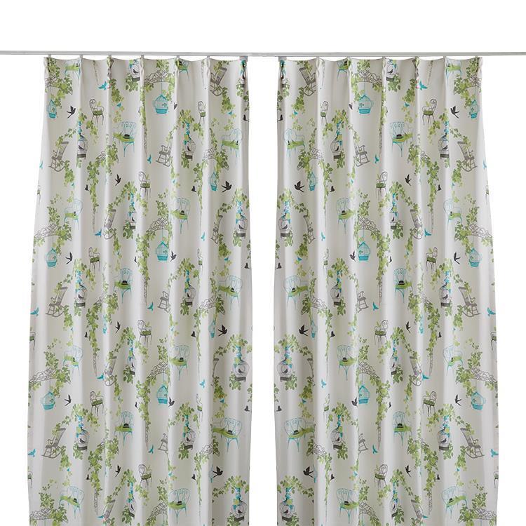 セシカカーテン2枚組 100X178cm GN