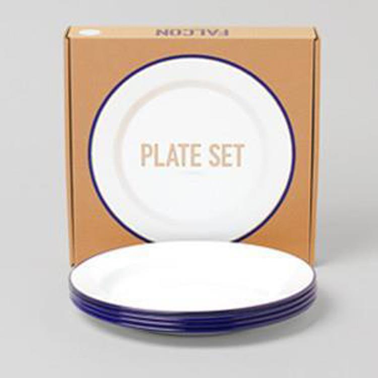 7FCPLSWHT FALCON PLATE 4枚SET WH×BL