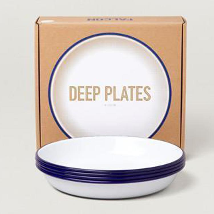 7FCDPWHT FALCON DEEP PLATES 4枚SET WH×BL