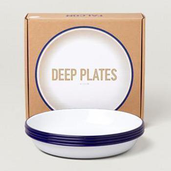 7FCDPWHT FALCON DEEP PLATES 4枚SET WH×BL